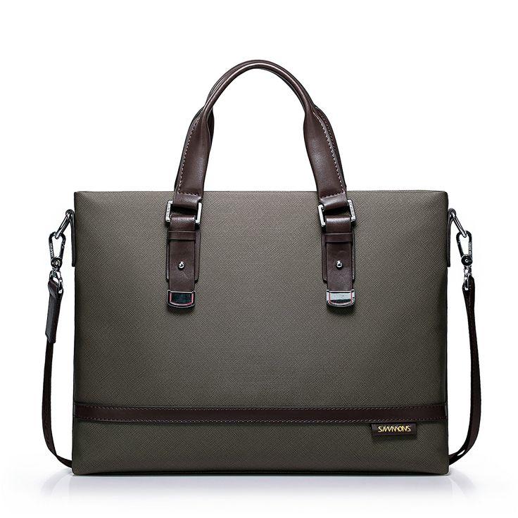 Sammons Men Briefcase Or Laptop Handbags Khaki