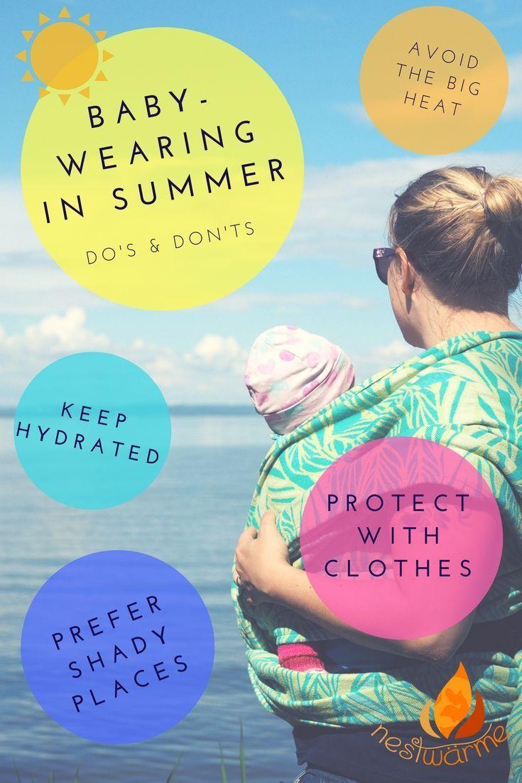 babywearing in summer - keep cool! My advice on safe babywearing during warmer days #babywearing #carrying #sling #baby #babywrap #wovenwrap #summer #kids