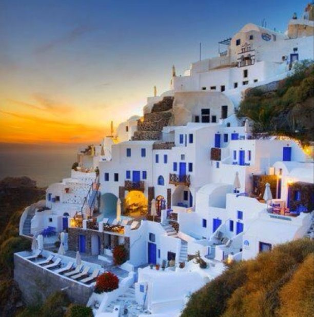 Few places in the world can match the sheer beauty of Santorini's sunset views. Most visitors agree that it makes for a truly surreal experience... Discovered by BillieB at Santorini, Greece, Karterados, Greece