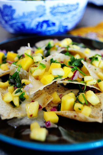 pineapple mango salsa. a little different than the mango salsa with jicama i've made, but looks like another tasty fruit salsa option.