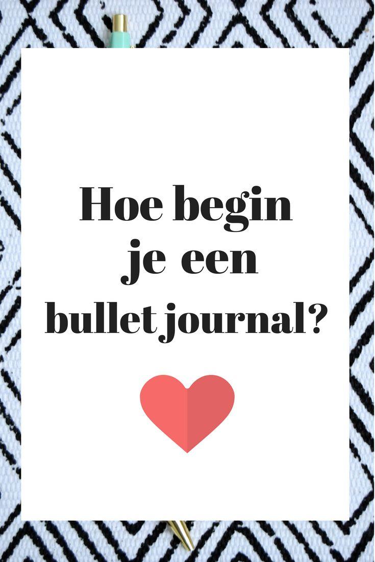 Tips om te beginnen met een bullet journal - Read all about it