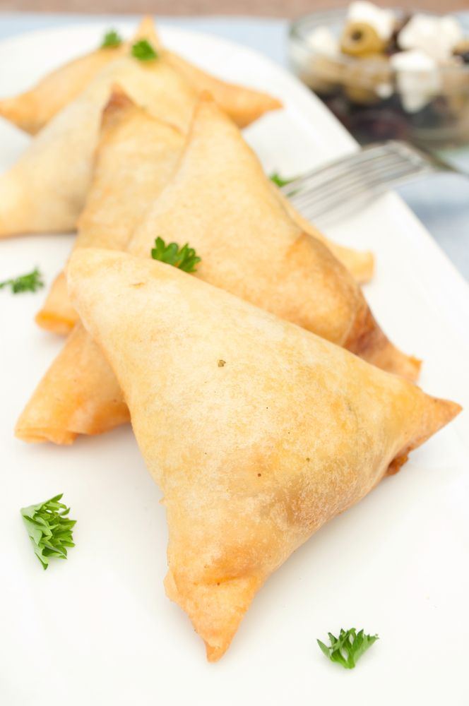 Spinach and Feta Cheese Triangles