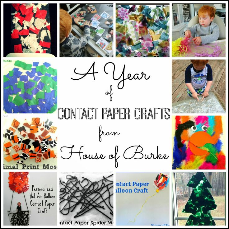 A Year of Contact Paper Crafts