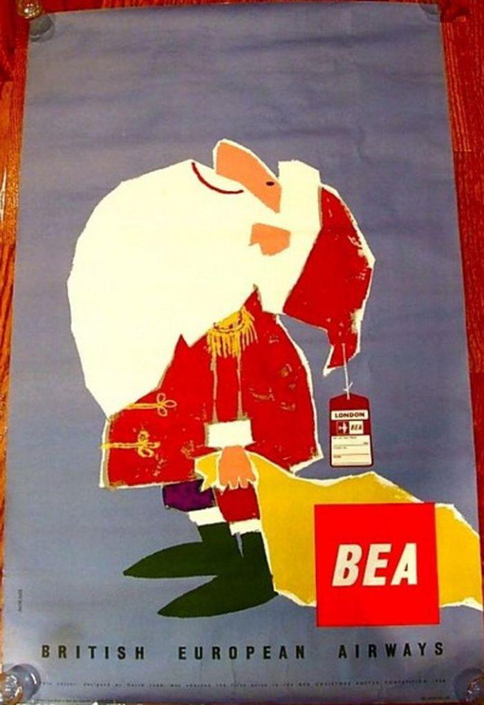 Santa Poster - BEA - British European Airways