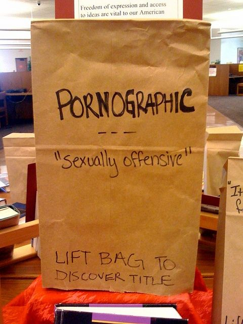 Banned Books Display at Oklahoma City Community College's Keith Leftwich Memorial Library