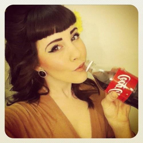CocaCola, vintage beauty, those bangs!