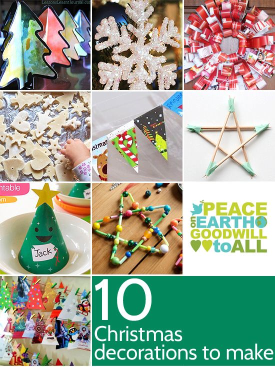 Christmas Decorations To Make In Maths : Ten christmas decorations to make crafts natal and