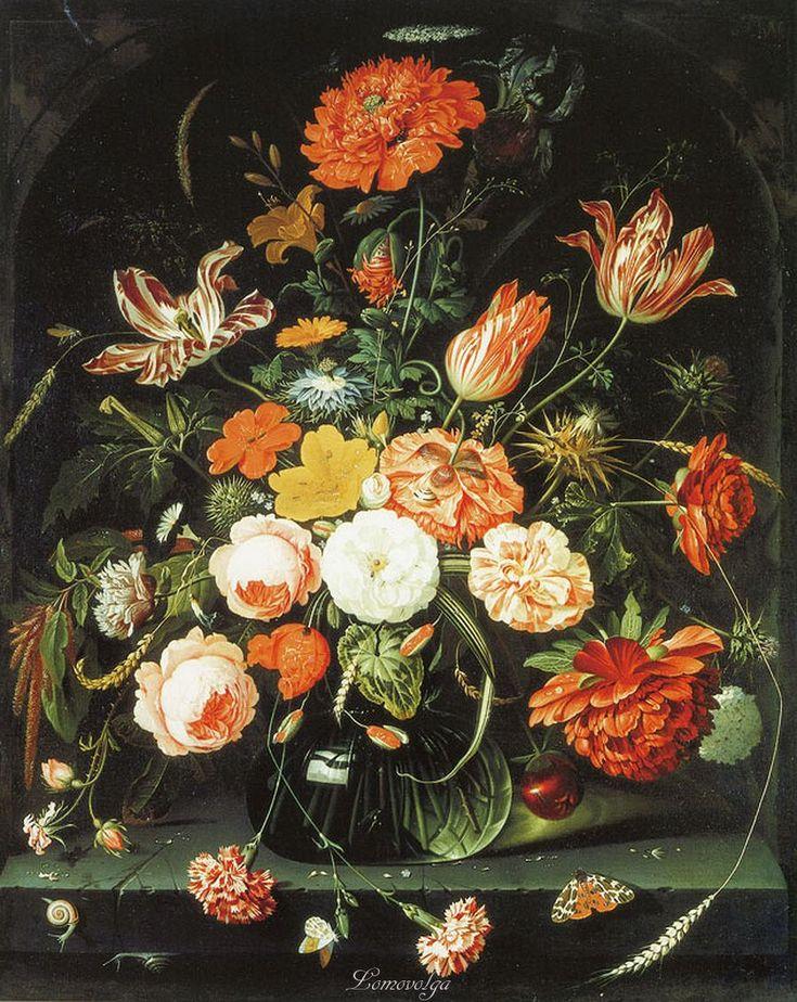 Абрахам Миньон Ваза с цветами в нише (копия??) The Ashmolean Museum, Oxford