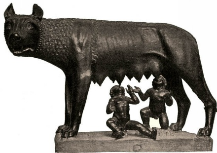 Roman legend: Roma was founded by Romulus and Remo.