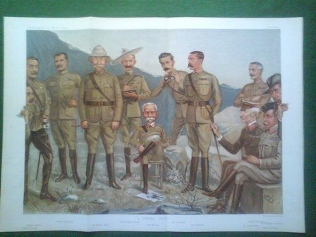 """A General Group with centrally seated Lord Roberts """"Bobs"""" of Kanadahar"""