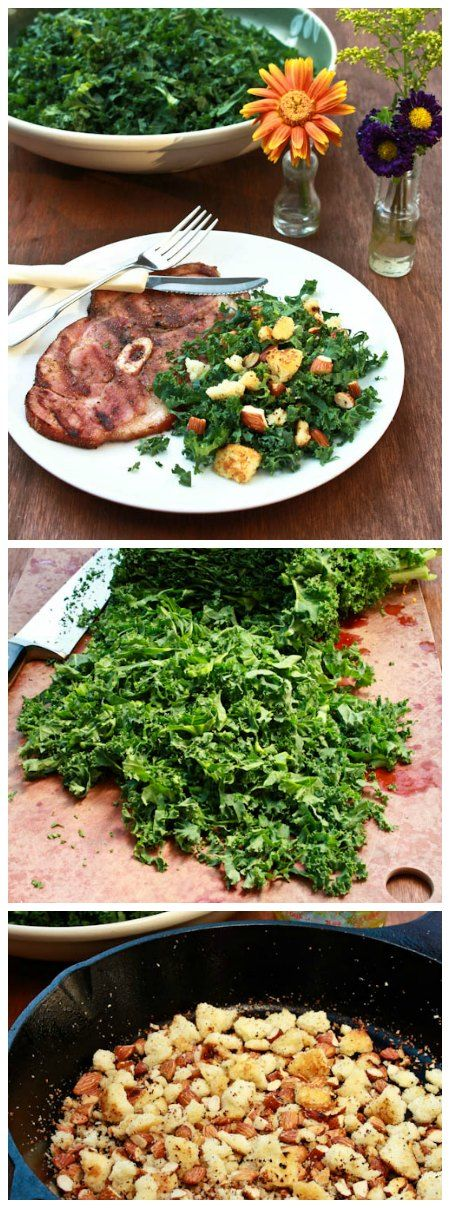 Grilled Ham Steaks with Southern Kale Salad. This looks like a team effort! @Glenn Babbitt