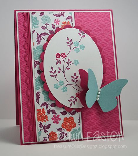 Flowers For You F4A105Sketches 37, Cards Ideas, Prayer Stamps, Floral District, Pretty Cards, Cards Thoughts, Butterflies Cards, Paper Crafts, District Dsp