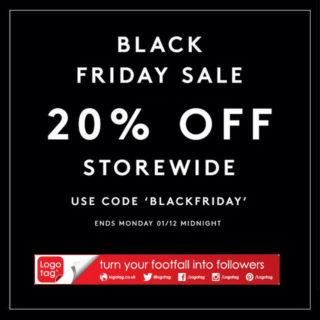 Our Black Friday sale is now on with 20% off the entire store for UK customers #BlackFriday #BlackFridaySale #tyfif