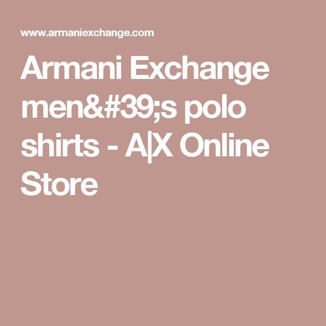 Armani Exchange men's polo shirts - A|X Online Store