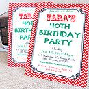 personalised milestone birthday invites by precious little plum | notonthehighstreet.com
