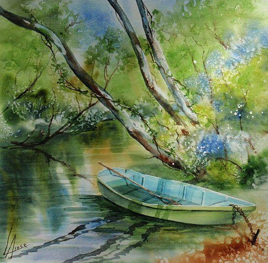 anne larose-sur le courant-watercolor