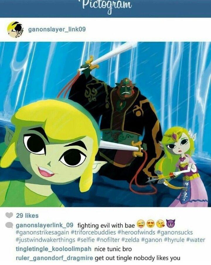 Toon Link Princess Zelda Tetra Ganondorf Pictogram Instagram Tingle