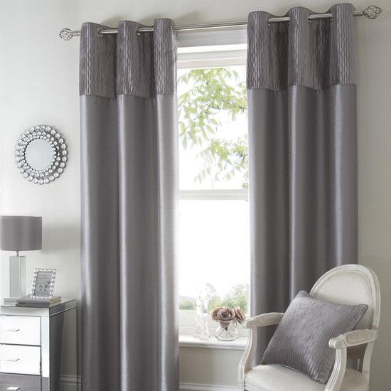 Silver Opulence Curtain Collection Dunelm Living Room