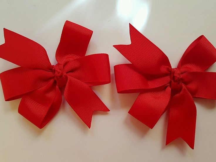 Madeline's Handmade: RED -Double Bow hair Ties -Pair - AU$6.00 a pair
