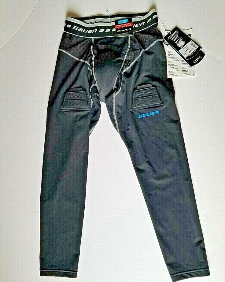 Bauer Hockey Protection Base Layer Pants Youth Size Xl Black Bauer Pants Hockey Shirts Hockey Pants