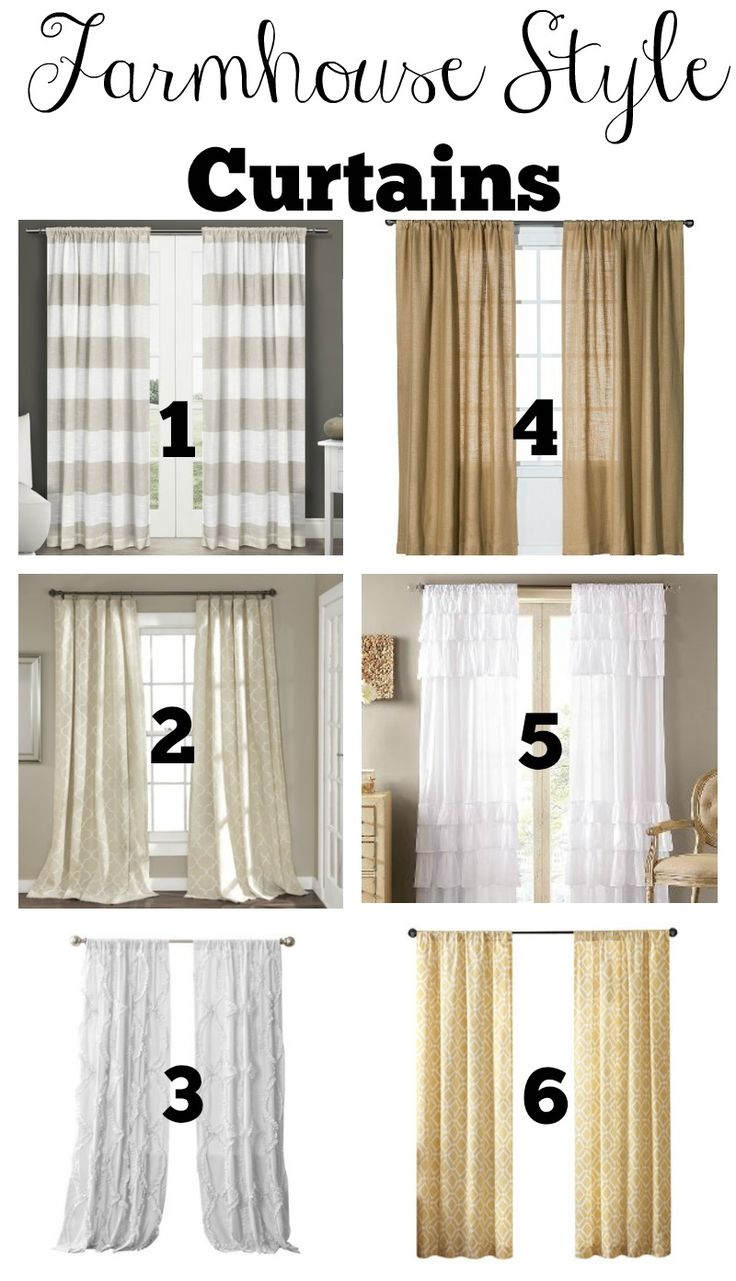 Budget Friendly Farmhouse Style Curtains                                                                                                                                                                                 More