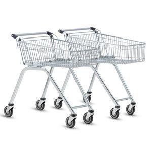 S nákupními vozíky Wanzl série Light je pohodlná manipulace a je skvělý pro malé nákupy. Plochá forma koše umožňuje nakládání v příjemné výšce.