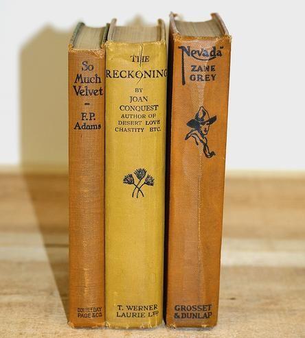 Orange & Gold Old West Vintage Book Set
