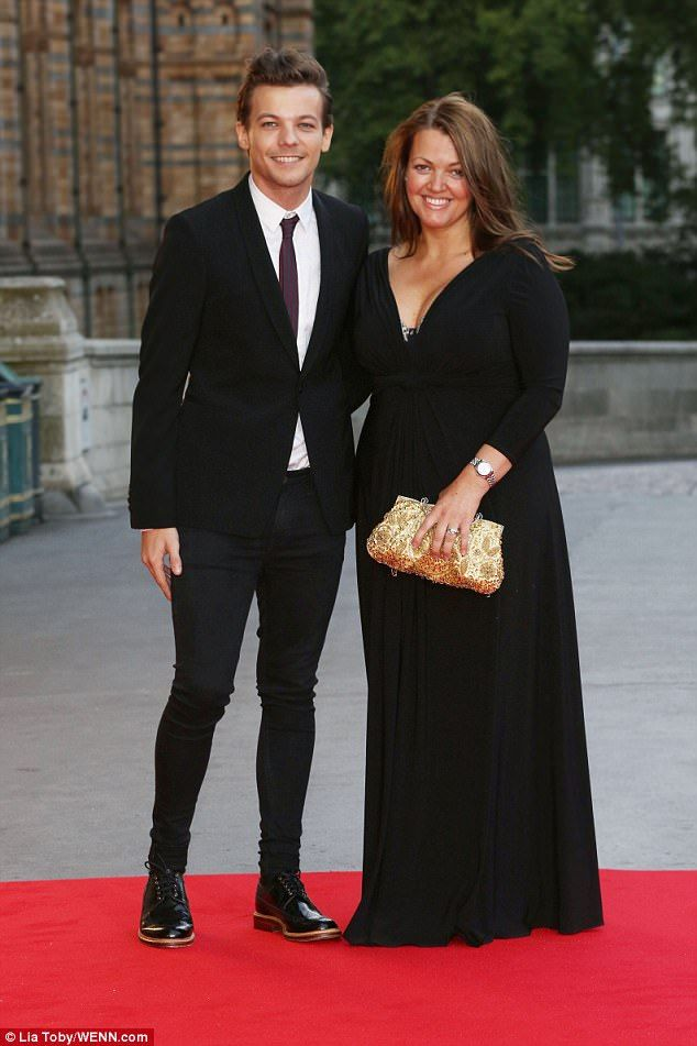 Wishing the best: Louis Tomlinson has revealed his late mother Johannah Deakin's dying wish