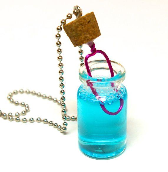 17 best images about bubble bottle necklaces glass bottle for Mini bubble wands