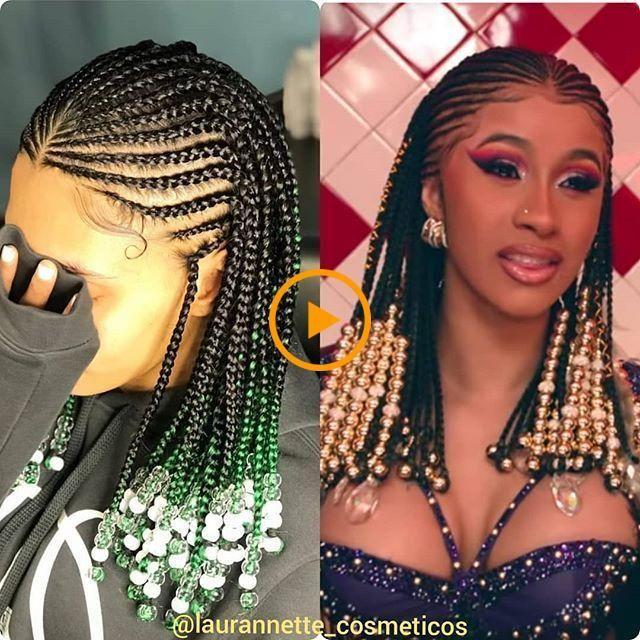 Tresses Fulani Avec Perles Idee Coiffure Cheveux Crepus Modele Coiffure Model De Coiffure Africaine