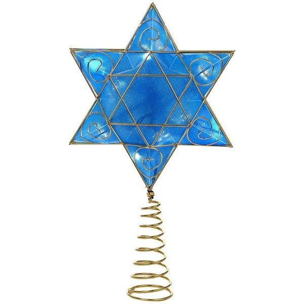 13-Inch Hanukkah LED Tree Topper ($64) ❤ liked on Polyvore featuring home, home decor, holiday decorations, blue, blue home decor, kurt adler, hanukkah tree topper, hanukkah home decor and hanukkah christmas tree topper