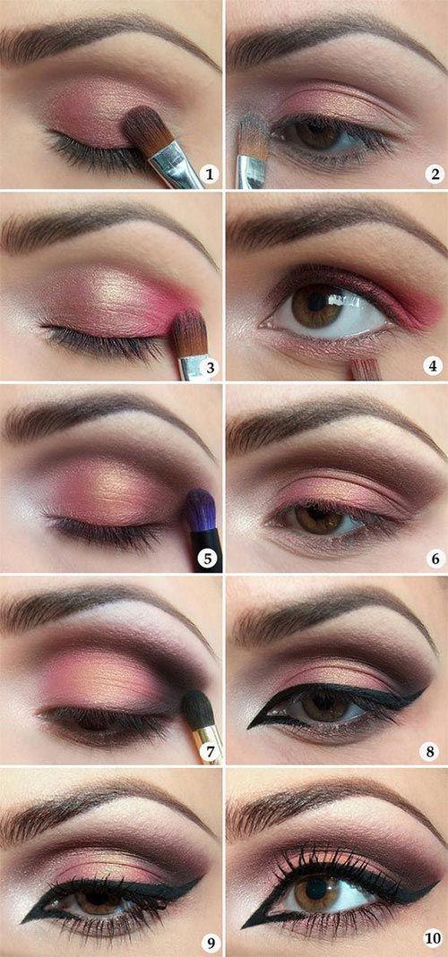 Try the trendy cut crease eye makeup tutorial. #eye #makeup #tutorial #womentriangle