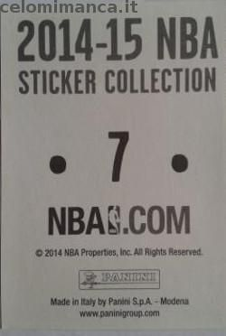 2014-15 NBA Sticker Collection: Retro Figurina n. 7 Rajon Rondo