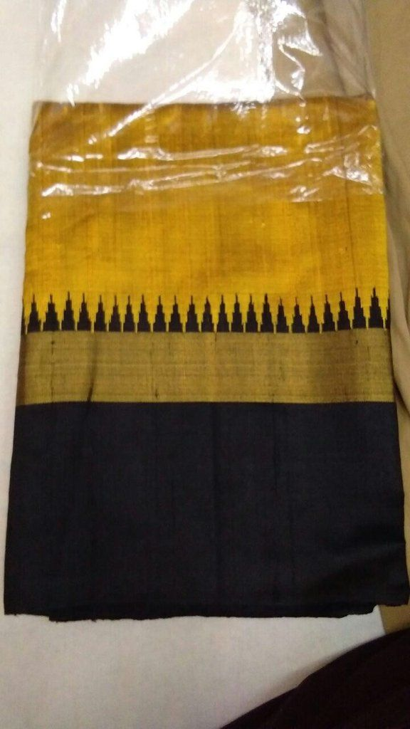 Handloom pure raw silk saree with blouse