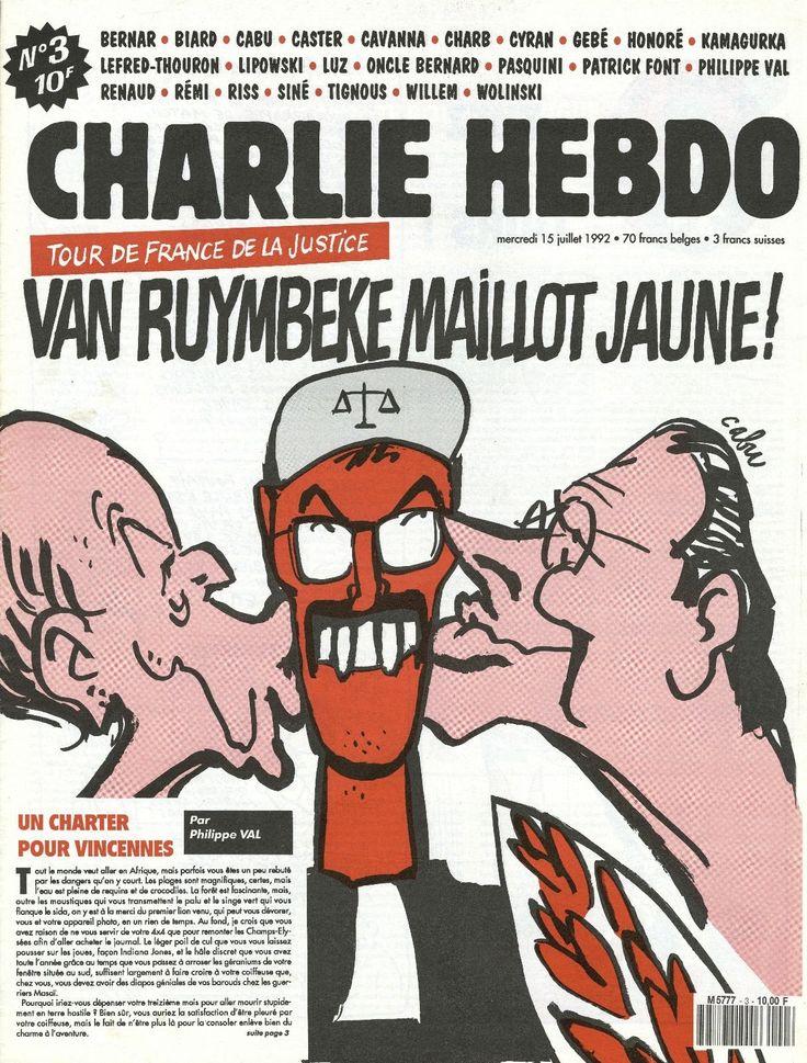 Charlie Hebdo - # 3 - 15 Juillet 1992 - Couverture : Cabu