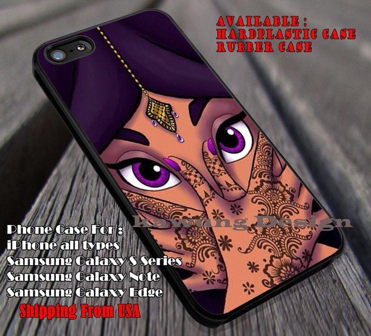 Princess Face Purple Beautifull, Jasmine Princess, Disney Princess, Aladdin, case/cover for iPhone 4/4s/5/5c/6/6 /6s/6s  Samsung Galaxy S4/S5/S6/Edge/Edge  NOTE 3/4/5 #cartoon #animated #aladdin #disney ii