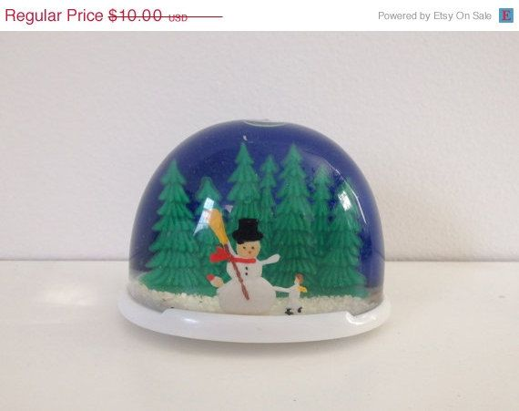 Vintage plastic snowman snow globe kid the o 39 jays and for Plastic snowman
