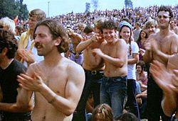 Woodstock// festival emblématique de la culture hippies des années 60...