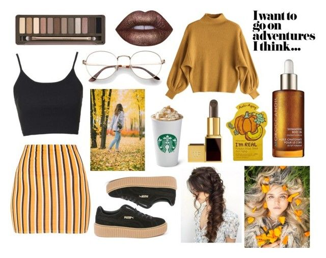 Pumpkin Lattè Palette by ellec2000 on Polyvore featuring polyvore, fashion, style, Topshop, Puma, Urban Decay, Lime Crime and clothing