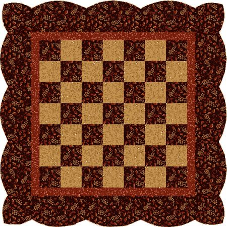 Checkerboard Table Mat need to make this - would also make neat gifts