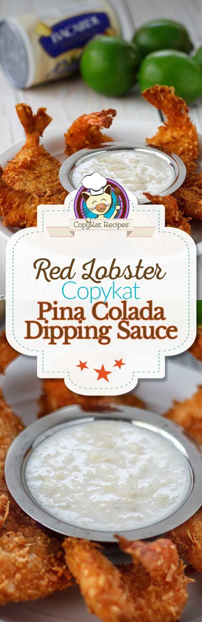 You can make the famous Red Lobster Pina Colada dipping sauce at home with this copycat recipe.
