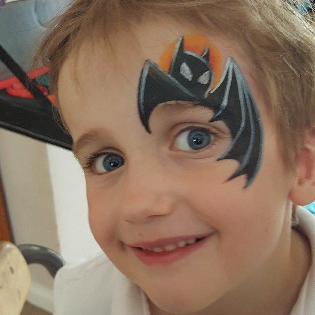 Quick batman face paint