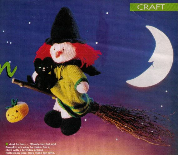 HALLoWEEN 'WENDY ThE WITCH' PuMPKIN & CaT by Crafting4Ever2013, $1.50