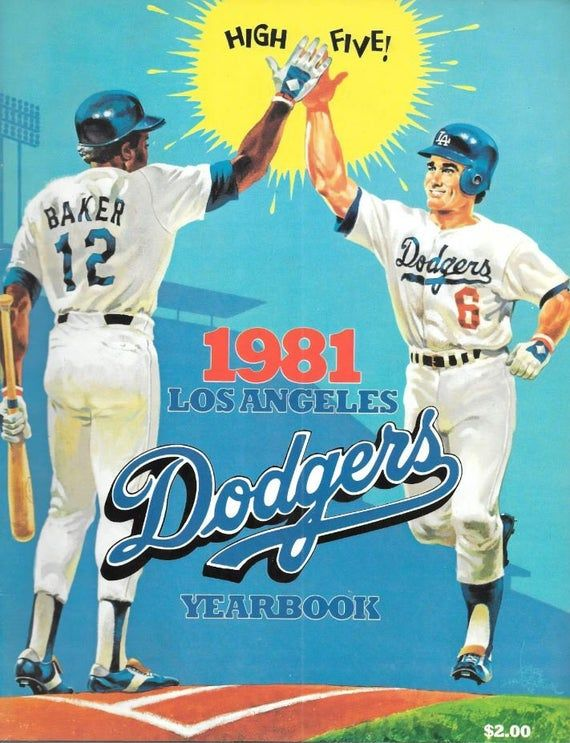 1960 La Dodgers Yearbook Dodgers Vintage Baseball Baseball Posters
