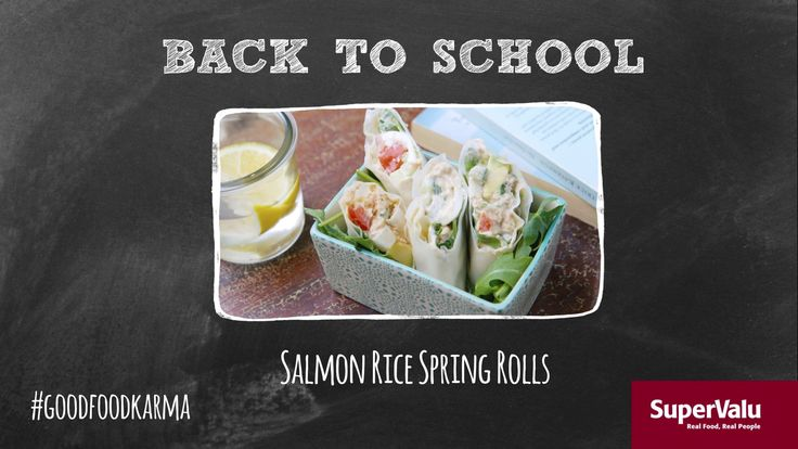 Salmon Rice Spring Rolls