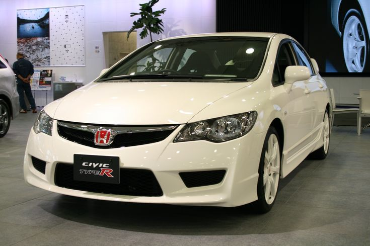 08 honda civic type R White