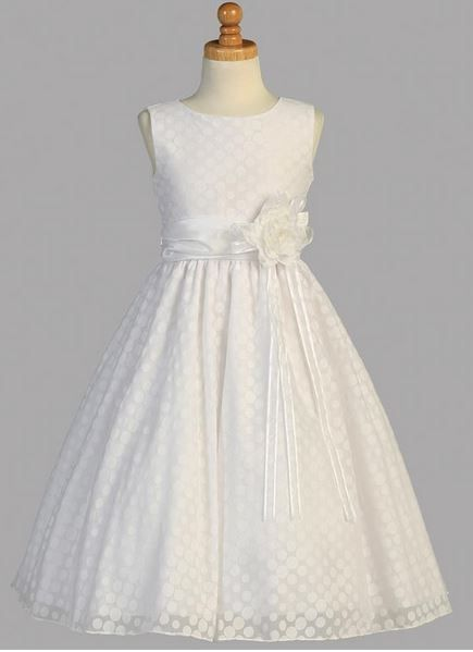 """Robe de communion """"Charlotte"""".Robe de communion en coton couleur blanche."""