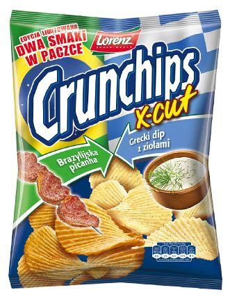 Crunchips X-Cut Edycja Limitowana: Brazylijska picanha i Grecki dip z ziołami - prawdziwie wymieszane smaki ;) #Crunchips #XCut #LimitedEdition #mixed #brasilian #picanha #greek #dip