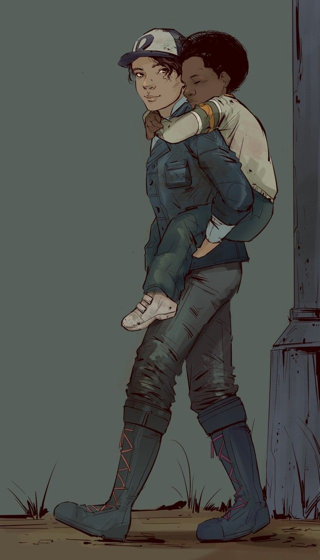 Clementine And Aj The Walking Dead So Cute Walking Dead Fan Art Walking Dead Art Walking Dead Game