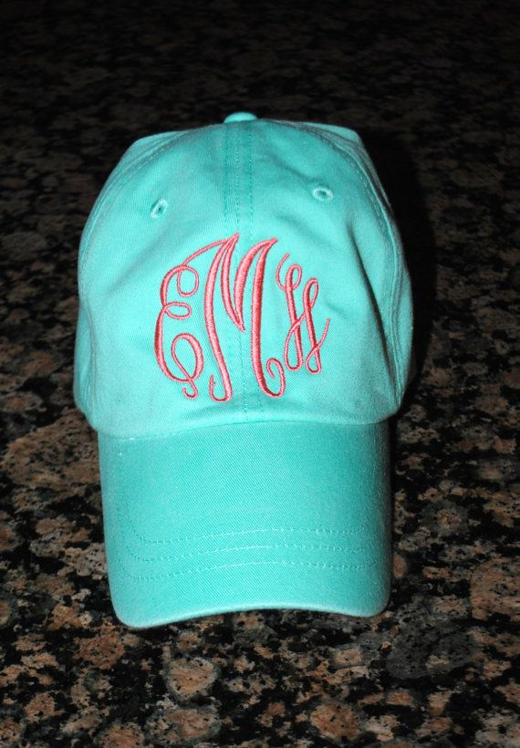 Monogrammed Baseball Hat by CharlestonMonograms on Etsy, $18.99